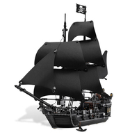 Creative LEPIN 16006 804Pcs Movie Series Ship Model Building Blocks Children Toys 4148 Compatible Legoe Pirates