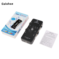 Colohas 4 Port Hub USB 2 0 KVM VGA SVGA Switch Box Adapter Connects Printer Intelli
