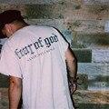 2017 Nueva camiseta de La Manera Temor De Dios Algodón Sólido Corto manga de la camiseta de Los Hombres de Hip hop Streetwear Justin Bieber Mismo Camisetas S-XL