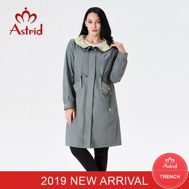 Astrid 2019 trench coat women jacket spring green lace collar elegant long Windbreaker women coat AS-9026