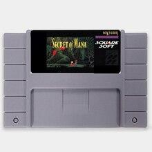 Salvar o Arquivo Secret of Mana EUA Versão 16 pouco Grande 46 pinos Cinza Cartão de Jogo Para O Jogador Do Jogo NTSC