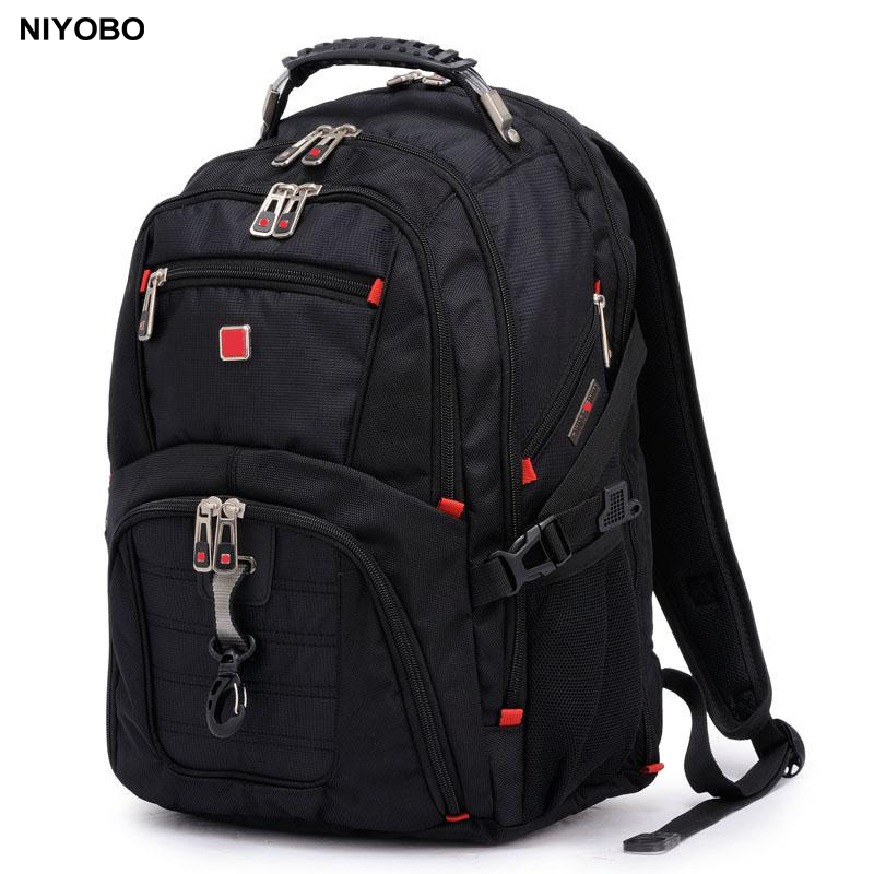 Large Capacity Nylon Laptop Bag Men Backpack Unisex Rucksack SchooL Bag Man Notebook Computer Black Back Bag For Teenagers men backpack student school bag for teenager boys large capacity trip backpacks laptop backpack for 15 inches mochila masculina