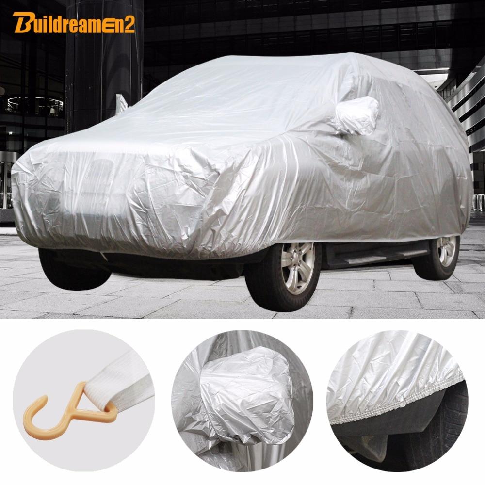 Buildreamen2 Universal cubierta del coche sombrilla lluvia nieve polvo Frost resistente coche cubierta de UV-Anti sol a prueba de polvo