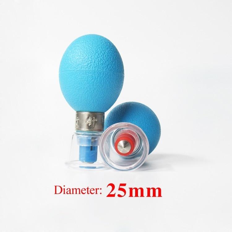 2 шт. 25 мм Магнитная терапия отрицательное давление Акупунктура Массаж Акупрессура присоска антицеллюлитный сбросить вес