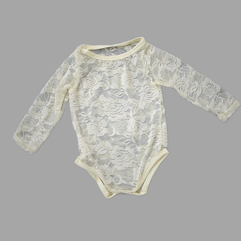1402c9b4c Baby Girl Lace Bodysuit,White Long Sleeve Lace Onesie Baby Clothes-in  Bodysuits from Mother & Kids on Aliexpress.com | Alibaba Group