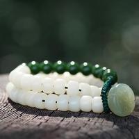 Designer Lotus Beads Bracelet Tibetan Seeds Beaded Mala Bracelet Strand Bracelet Lady Jewelry Gift