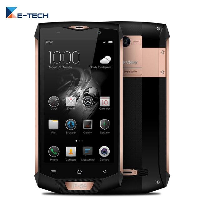 IP68 Водонепроницаемый Blackview bv8000 Pro смартфон mt6757 Octa Core 5.0 дюймов 6 ГБ Оперативная память 64 ГБ Встроенная память 16mp Уход за кожей лица распознавания 4 г LTE телефон