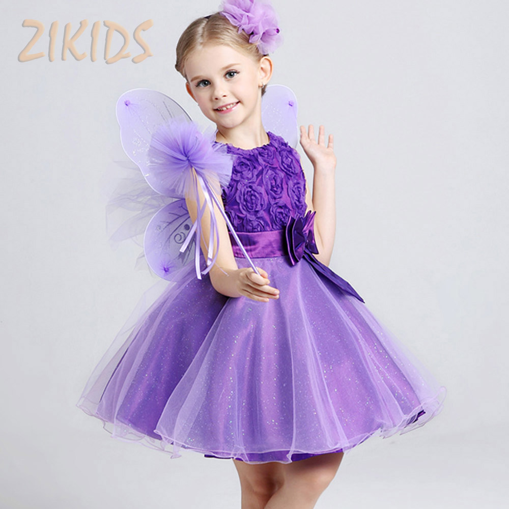 Summer Style Dress Flowers Girl Dresses for Wedding Party Cute Girls Floral  Princess Dress Children Brand Kids Clothes 2017 Sale-in Dresses from Mother    ... 7ebee960b357