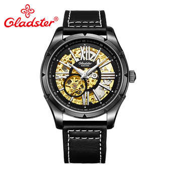 Gladster Luxury Brand Men Automatic Mechanical Wristwatch Hollowed-out Skeleton Emblem Male Watch Coupon Sapphire Glass Clocks - DISCOUNT ITEM  35% OFF Watches