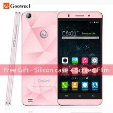 Оригинал Gooweel M5 Pro 3 Г Смартфон MTK6580 Quad-core 5 «IPS экран Мобильного телефона 1 ГБ RAM 8 ГБ ROM 5MP + 8MP камера GPS сотовый телефон