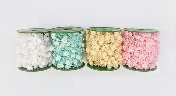 1 Mt Schöne Kunststoff Hand Rose Perlen Braut Blumenstrauß Zubehör Für Hochzeit Dekoration Künstliche Blume Diy Zubehör StraßEnpreis