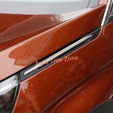 2 ШТ. Стальные Наружные Молдинги Fender Side Решетка Для Peugeot 3008 GT 2017