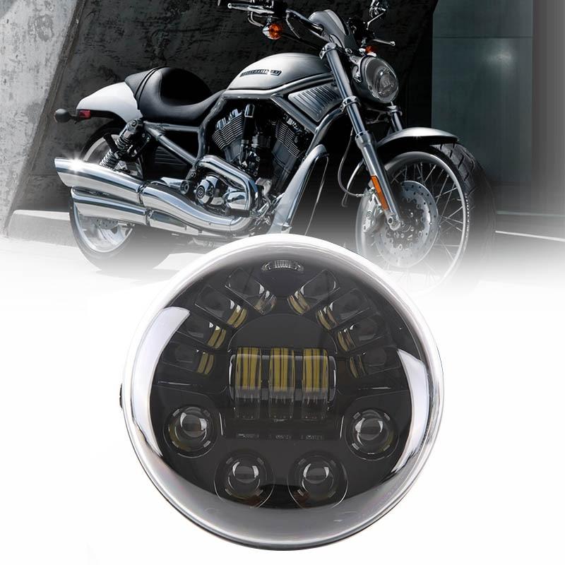 VRSC/V-ROD LED Headlight With daytime running light vrod headlight oval E9 DOT for Harley V Rod VRSCF VRSC VRSCR Harley Headlamp