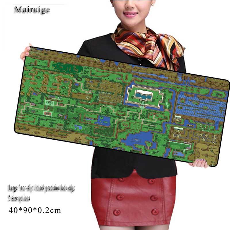 Mairuige Large 900*400mm Speed Keyboard Mat Map Mousepad Gaming Desk Mat for CSGO DOTA2 Game Player