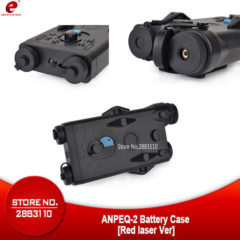 Airsoft Element Tactical AN PEQ-2 Battery Case Softair Red laser Ver for 20mm Rails No Function L100mm*W65mm*H20mm PEQ Box EX426Airsoft Element Tactical AN PEQ-2 Battery Case Softair Red laser Ver for 20mm Rails No Function L100mm*W65mm*H20mm PEQ Box EX426