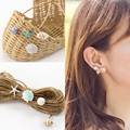 4 pcs/set New Fashion Sea Style Jewelry Shell Pearl Conch Starfish Stud Earrings For Women Fine Jewelry Wholesale 3111