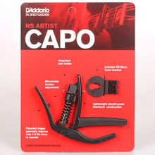 D'addario Planet Waves PW-CP-10 NS Artist Electric Acoustic Guitar Capo with Built-in Pick Holder
