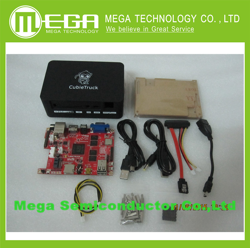 Cubieboard3 A20 Dual Core Development Board Cubietruck Beyond Basic Raspberry Pie Pcduino With Black Case