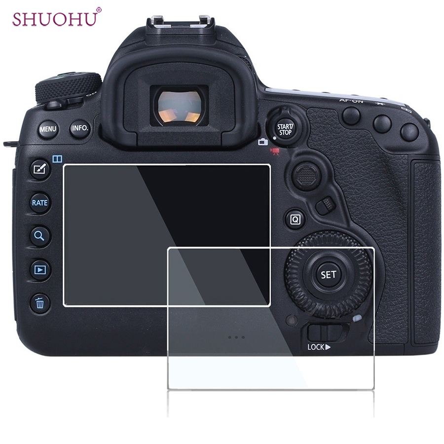 SHUOHU Shockproof HDTempered LCD Screen Protector for Canon EOS 6D 60D 550D 600D 650D 700D 750D 800D 70D 5D Mark II 7D 7DII DSLR