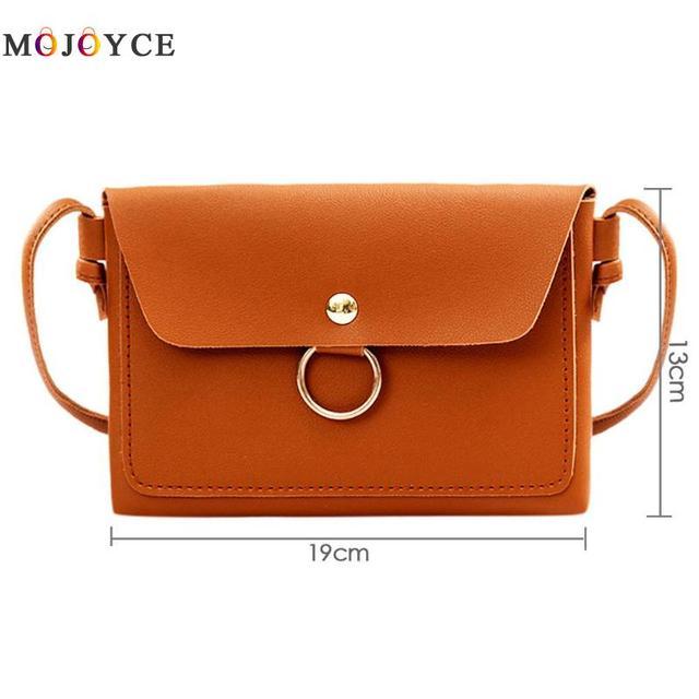 Women PU Leather Crossbody Messenger Bag Girls Small Sling Shoulder Bags Ladies Closure Cover Flap Handbag 5