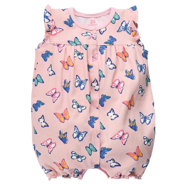Short Sleeve Baby Girls Jumpsuits