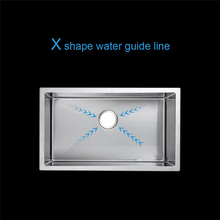 60*45cm stainless steel kitchen sink undermount single bowl 23.6″ thickening water tank brushed with drain basket drain rack