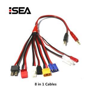 Image 2 - HTRC 19 in 1 şarj kabloları ve 8 1 kabloları IMAX B6 şarj RC parça Lipo pil çok şarj fişi dönüştürme kablo hattı