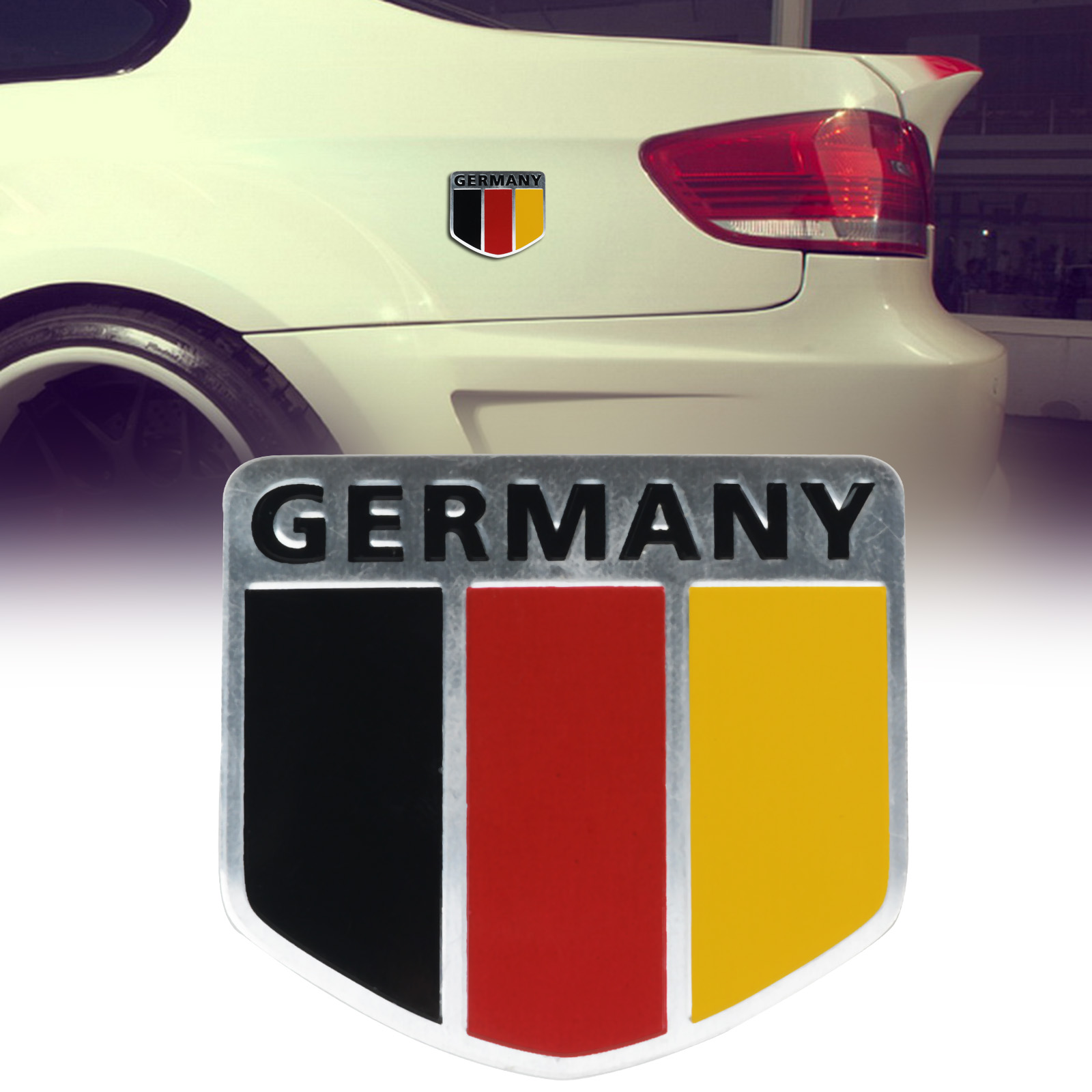 Design car flags - Mayitr New Car Aluminum German Germany Flag Shield Emblem Badge Truck Auto Decals Sticker 6 X