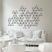 Geometric Triangles Wall Sticker Baby Nursery Decal Modern Decor Removable Cut Vinyl P42