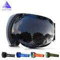 VECTOR Nueva Marca Gafas de Esquí UV400 Anti-vaho Grande Máscara de Esquí Gafas de Esquí Profesional Hombres Mujeres Nieve Snowboard gafas