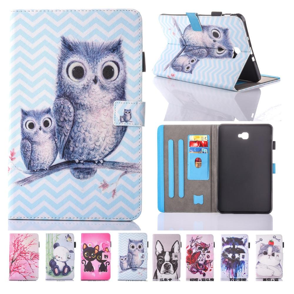 Para Samsung Galaxy Tab A 10.1 T580 Estuche New Animal Impreso Folio - Accesorios para tablets - foto 1