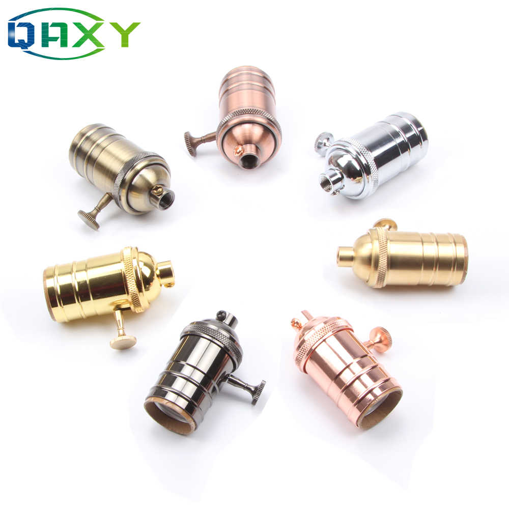 E27/E26 Classic Retro Edison Lamp Holder Socket Bulb Base Gold/Silver/Copper Light Sockets For Pendant Lamp Bedside Light[D5551]