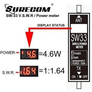 Image 3 - Surecom SW33 VHF UHF قوة صغيرة و SWR متر SW 33 لراديو اتجاهين