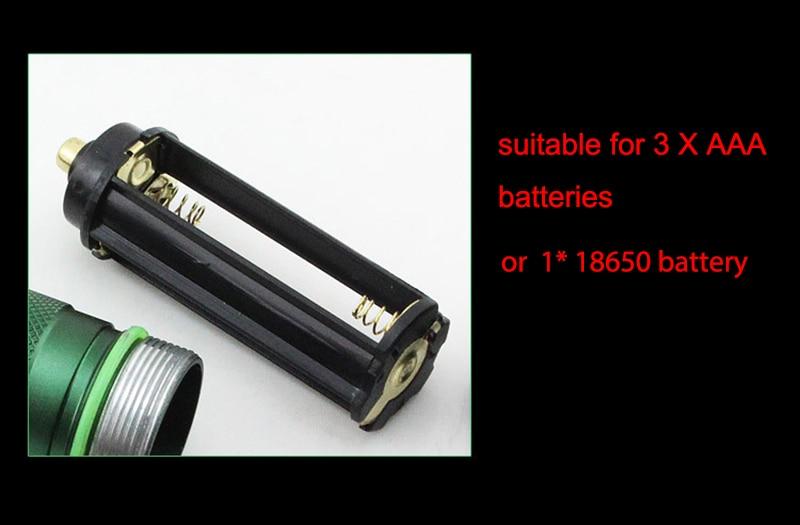 Samoobrona Lampa błyskowa LED FlashLight Q5 Lampa potężny - Przenośne oświetlenie - Zdjęcie 5