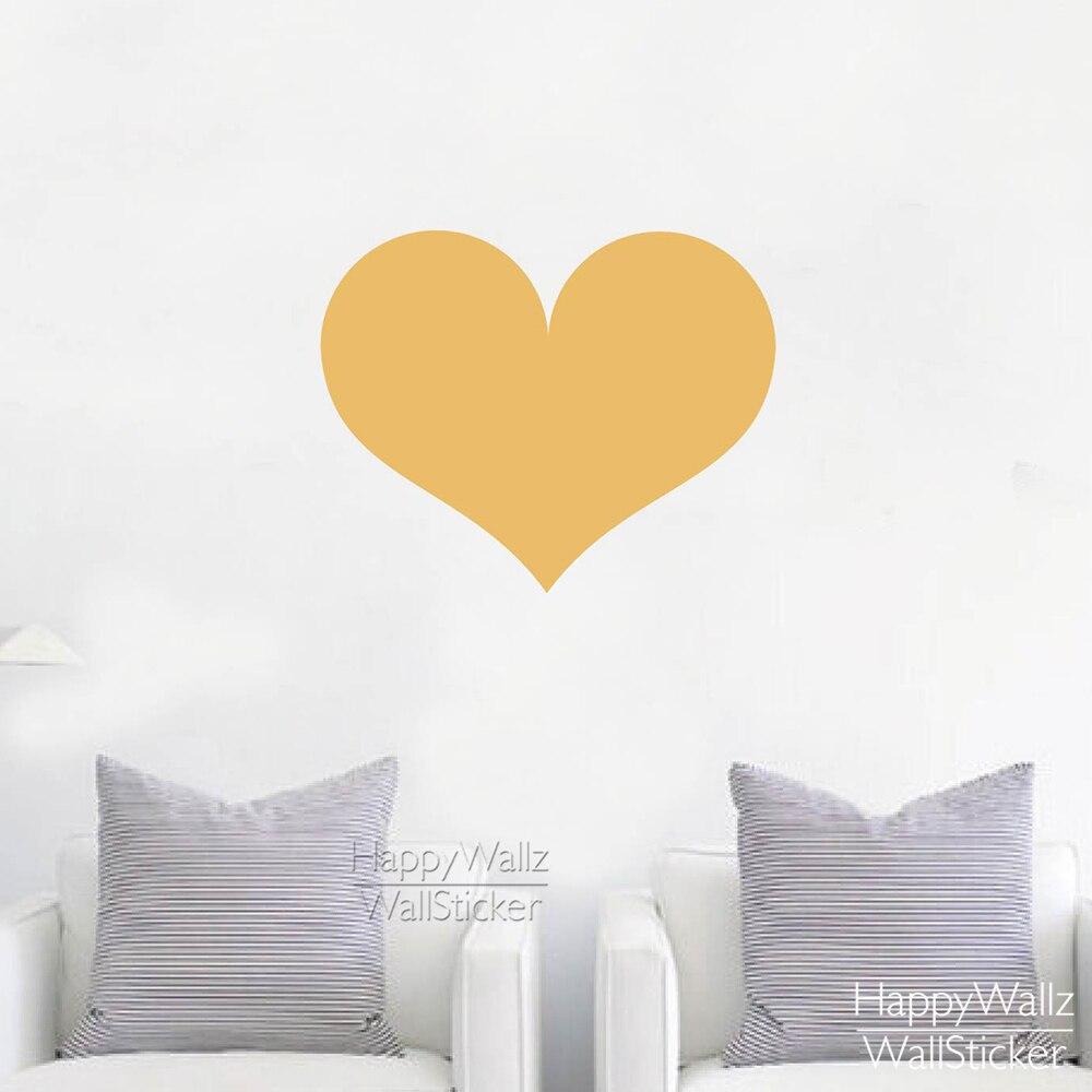 Heart Wall Sticker Baby Nursery Love Heart Wall Decal DIY Easy Wall ...
