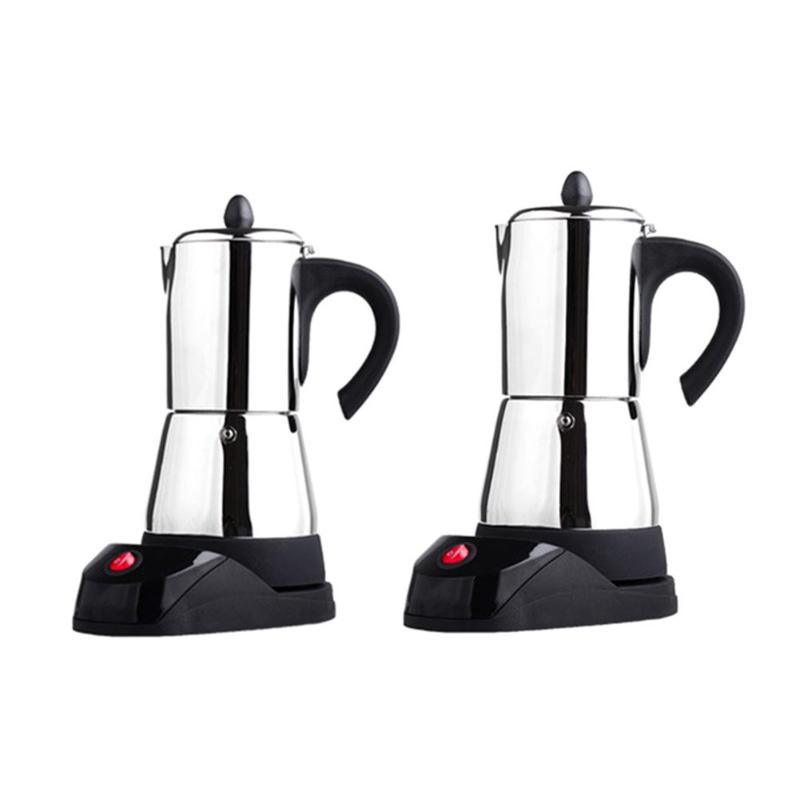 300ML Coffee machine espresso coffee pot portable stainless steel electric moka pot EU Plug 6 person servings франк и ред de quoi chantent les francais 50 chansons d or о чем поют французы 50 золотых французских песен