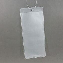 Plastique PVC mat polonais Type prix carte étiquette papier étiquette manchon sacs détenteurs dans le magasin 1000 pièces