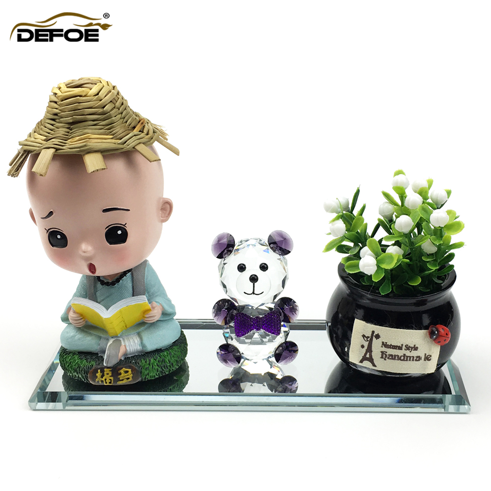 car decoration free combination car doll creative Car Ornaments Auto Interior Decorations car accessories Crystal Material-in Ornaments from Automobiles & Motorcycles