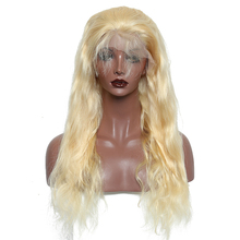 613 Blonde Full Lace Human Hair Wigs Body Wave Gluless Full Lace Wig 130% Density Bleached Knots Brazilian Wig Remy Hair