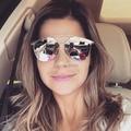 Двойной Мост Пилот Дизайнер Женщины Мужчины Солнцезащитные Очки Мужской Женский Зеркальные Очки Óculos De Sol Покрытие Моды Европейский Стиль