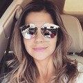 Doble Puente Piloto Mirrored Gafas Diseñador de Las Mujeres de Los Hombres gafas de Sol Hombre Mujer Gafas de Sol Recubrimiento Moda Estilo Europeo