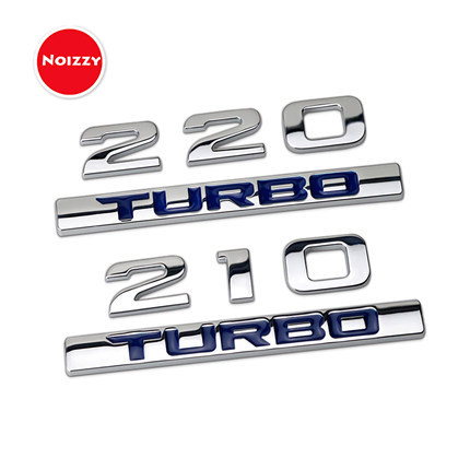 Noizzy 210 220 Turbo Car Sticker Auto Emblem Chrome Badge 3D Metal Tail Trunk Tuning for Honda Civic Jade Accord CRV Avancier chrome window gate for honda civic 2017 car window gate abs chrome accessories for honda civic 2016 new chrome parts