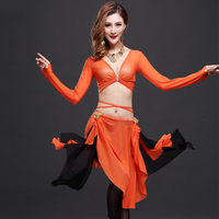 The New Belly Dance Costumes Color Suit Costume Clothes Strap Skirt Suit T709 Three Piece