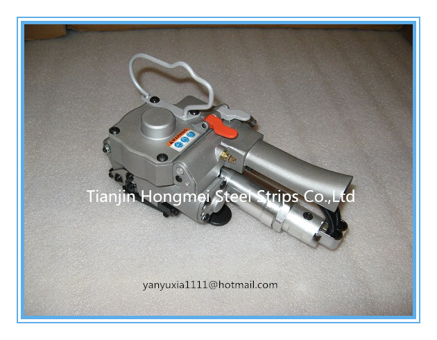 AQD-19 (Tension >=3500N ) Pneumatic PET/Plastic Strapping Tool, Pneumatic PP&PET Strapping Machine for 13-19mm(1/2-3/4)