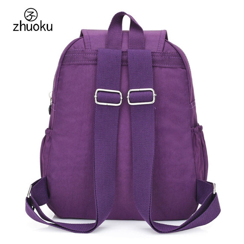 women backpack Black mini backpack teens girl school bags good quality double shoulder Beach bag 2018 Famous brand design ZK603 in Backpacks from Luggage Bags