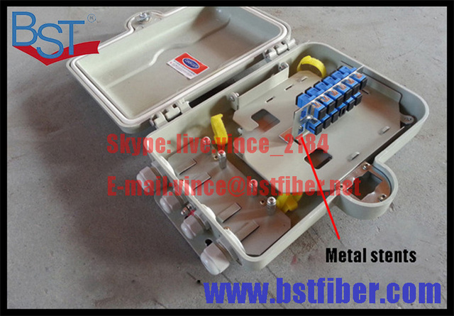 6 12 Núcleos De Fibra Óptica Ftth, Material del ABS, Caja de FTTH Caja de Distribución
