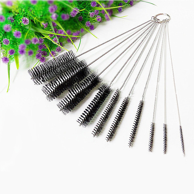 10pcs Cleaning Brush Set Miniature Size Brushes Pot Mouth Cups Bottles Household Cleaning Tool Accessories  FP