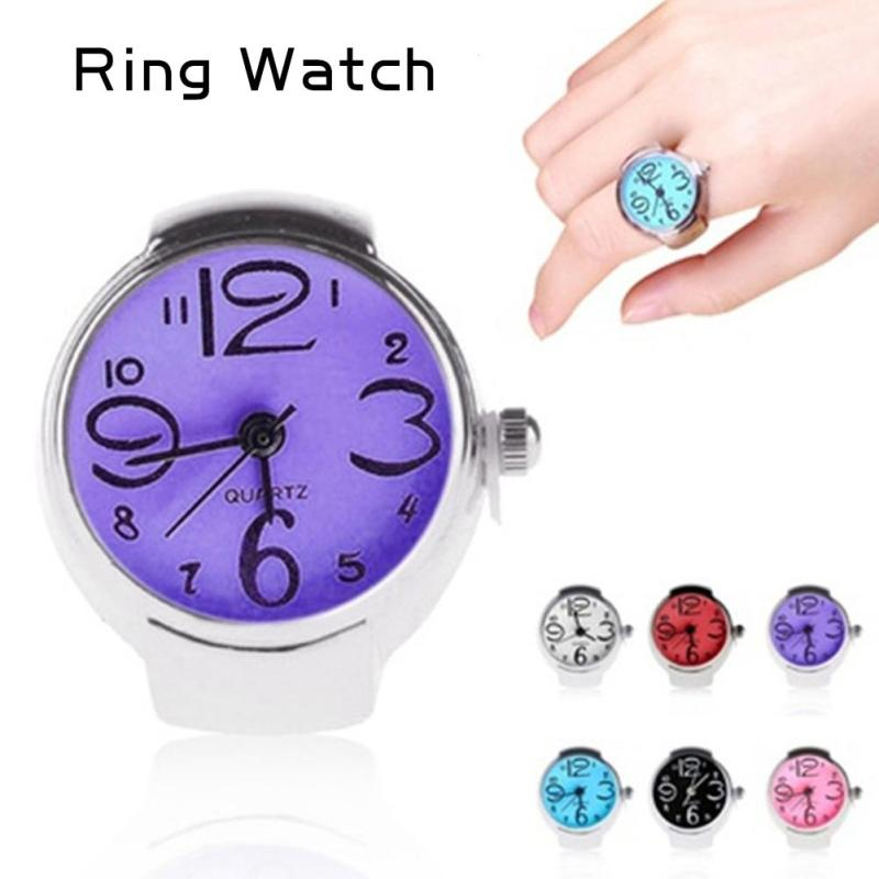 Watch Lady Gifts Ring Finger Popular Dial Quartz Analog Cool Creative Steel Cool Elastic Quartz Finger Ring Watch Watch