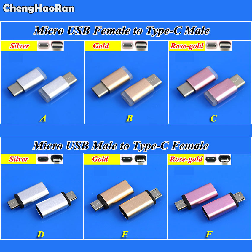 ChengHaoRan 1Piece USB 3.1 Type-C Connector To Micro USB Converter,Female To Male USB-C Data Adapter Type C Device