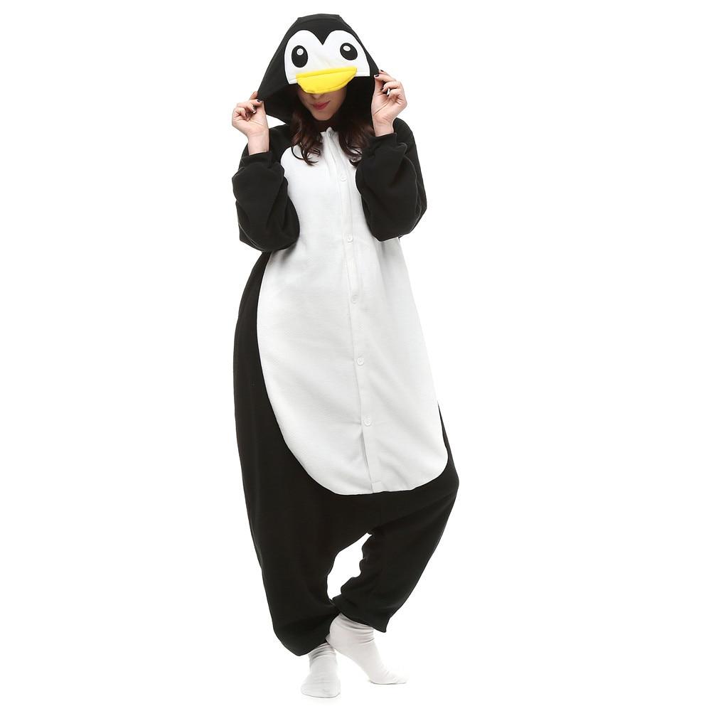 Unisex Adult Anime Penguin Polar Fleece Cosplay Costume Pajamas Party Onesies Pyjamas Sleepwear Fancy Dress One-Piece